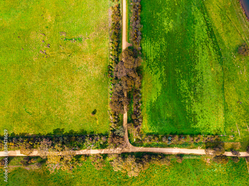 Fotografie, Obraz ariel country road