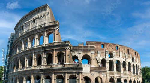 Colosseum, the flavian amphitheatre in Italy Rome Canvas Print
