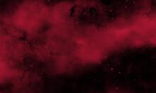 Crimson Color Smoke On Black Background