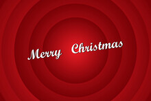 Red Vector Image Of Merry Chri...