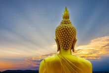 Buddha Status  On The Mountain...