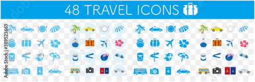 Illustrations of GO TO tourism icons Vector Fototapet