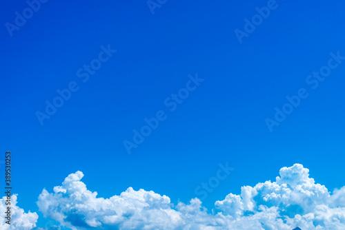 Photo どこまでも高い空と雲、テクスチャー