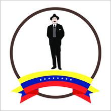 Nice Vector Illustration About Dr. José Gregorio Hernández With Eight Stars Venezuela Flag. Dr. Jose Gregorio Hernandez. Caracas, Venezuela.