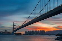 Tsing Ma Bridge In Hiong Kong ...