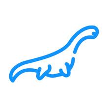 Pliosauroids Dinosaur Color Icon Vector Illustration Sign