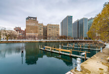Belmont Harbor View In Chicago City