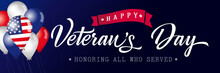 Happy Veterans Day USA Letteri...