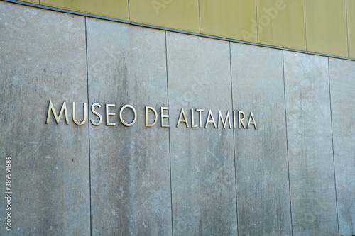 exterior view of the entrance to the Caves of Altamira Museum in Spain