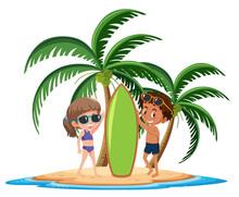 Kids On The Tropical Island Po...