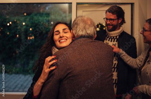 Fotografie, Obraz Family coming over for Christmas dinner