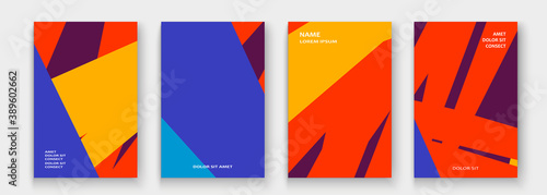 Fototapeta Modern cover collection design vector. Abstract retro style red yellow neon lines texture. Striped trend background. Futuristic geometric stripe pattern. Design presentation, template, business cards obraz
