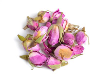 Dried Rose Buds Isolated On Wh...