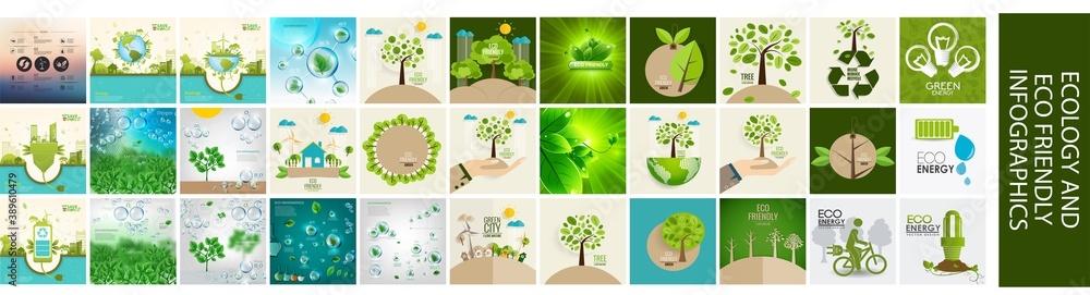 Fototapeta Ecology infographics