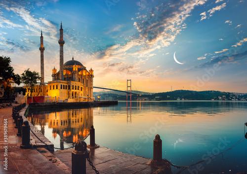 Photo Mosque and Bosphorus bridge