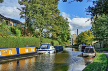 A Scenic View Of The Leeds And Liverpool Canal, Skipton, North Yorkshire