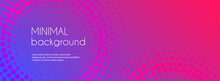 Gradient Colorful Long Banner. Abstract Minimal Dotted Background For Social Media Cover With Copy Space For Text