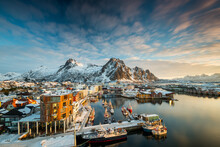 View Over The Port Of Svolvaer...