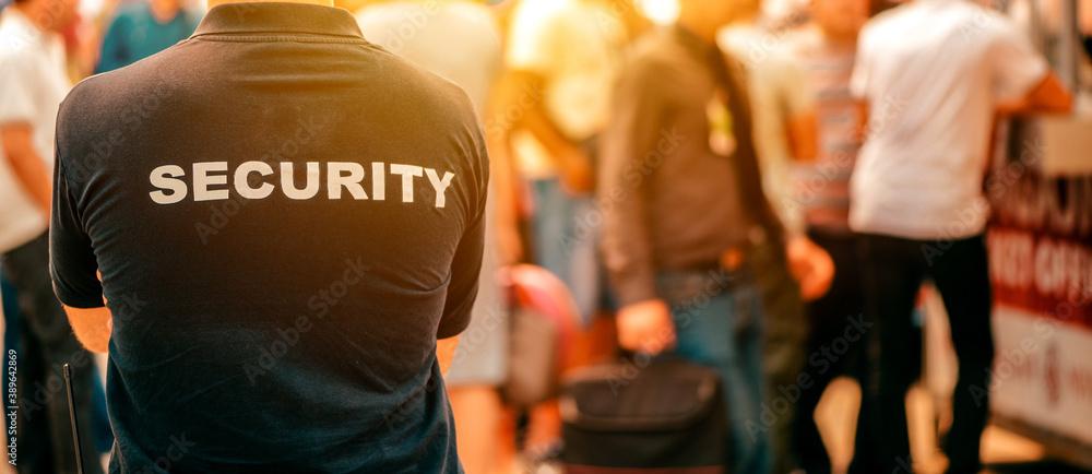 Fototapeta Security guard at live festivale event