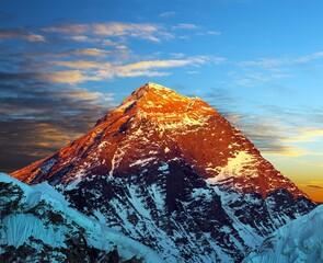 Fototapeta Góry Mount Everest evening view Nepal Himalays mountains