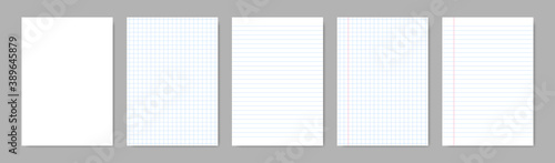 Photo Paper blank sheets with lines