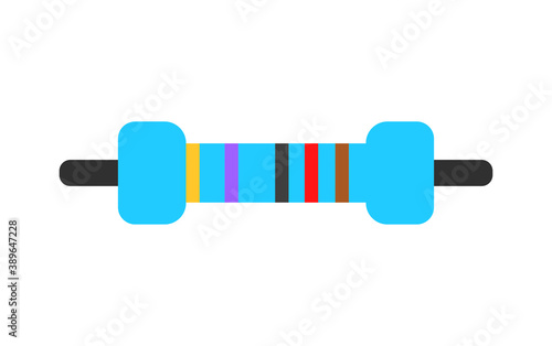 Canvas Print Electrical resistor symbol vector colored flat style