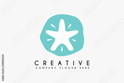 Fototapeta starfish logo design illustration vector