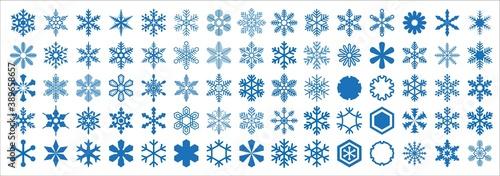 Fotografía Snowflakes of various shapes