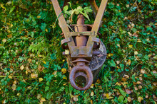 Old And Rusty Tractor Trailer Hitch