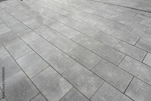 Fotografiet Granite outdoor floor tile diagonal
