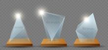 Clear Glass Trophy Reward Set