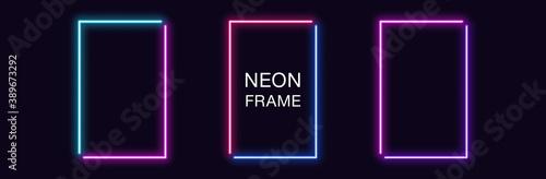 Fotografia Neon rectangle Frame