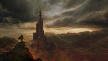 Fantasy Castle Landscape - Digital Illustration