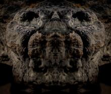 Abstract Background Of A Stone Anaconda Head.