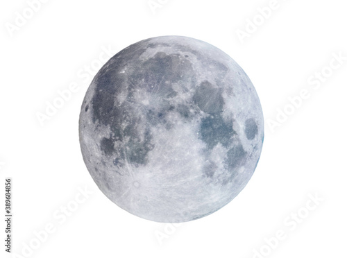 Obraz Isolated full moon, on white - fototapety do salonu