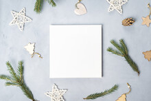 White Canvas Board And Christm...