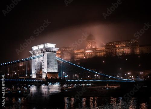 Fototapety, obrazy: chain bridge of budapest