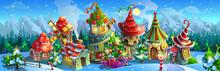 Christmas.  Panorama Of  Fairy...