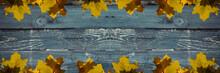 Background Of Grunge Blue Hori...