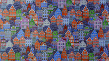 Background From Colorful House...
