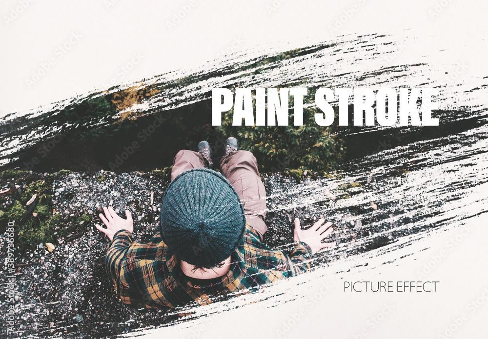 Fototapeta Paint Brush Stroke Photo Effect