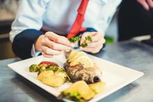 Chef Cook In A Fancy Restauran...