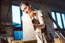Beautiful Woman Carpenter Chec...