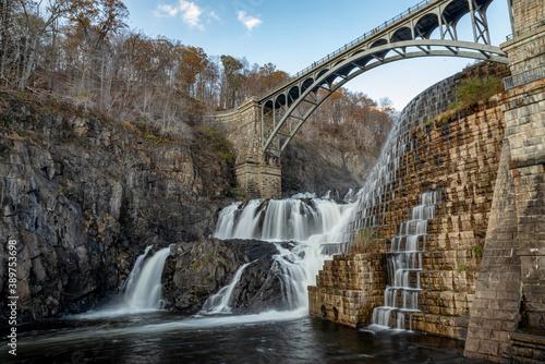 Obraz na plátně New Croton Dam, Croton-On-Hudson, Croton Gorge Park, NY. USA
