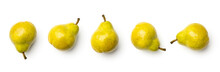 Collection Of Pears Isolated O...