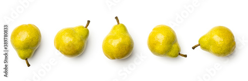 Obraz na plátně Collection of pears isolated on white background