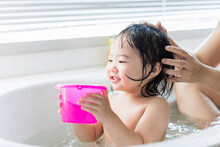 Cute Asian Kid Toddler Having ...