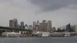 Sydney City Australia CBD with centre point tower shot in 4k high resolution