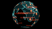 Digital Global World Map And Technology Research Develpoment Analysis To Ransomware