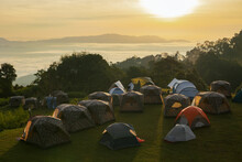 View Of Traveller Tents On Gre...